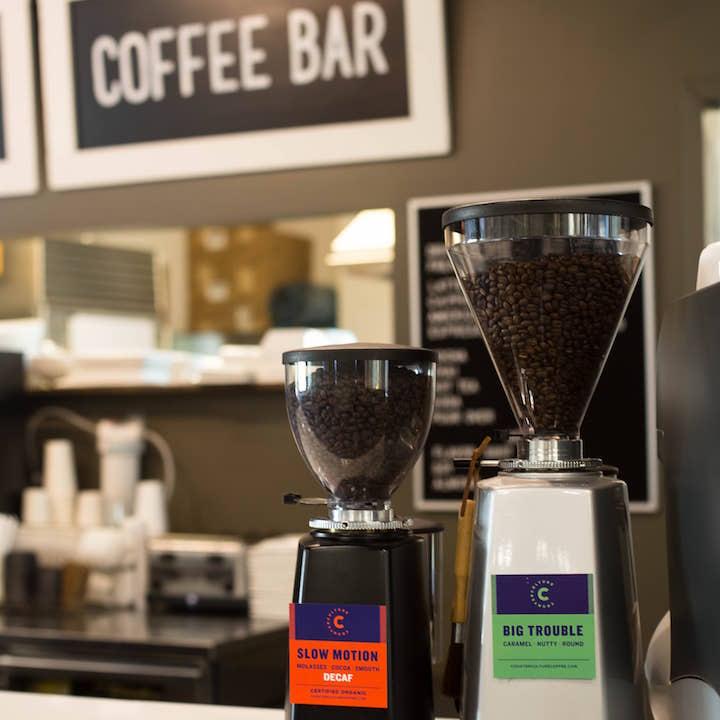 Espresso beans at Coffee Bar in Alpharetta, GA