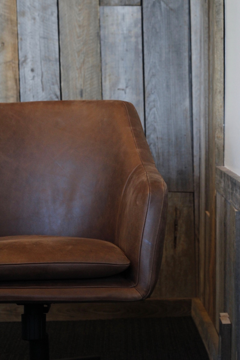 Leather chair in board room