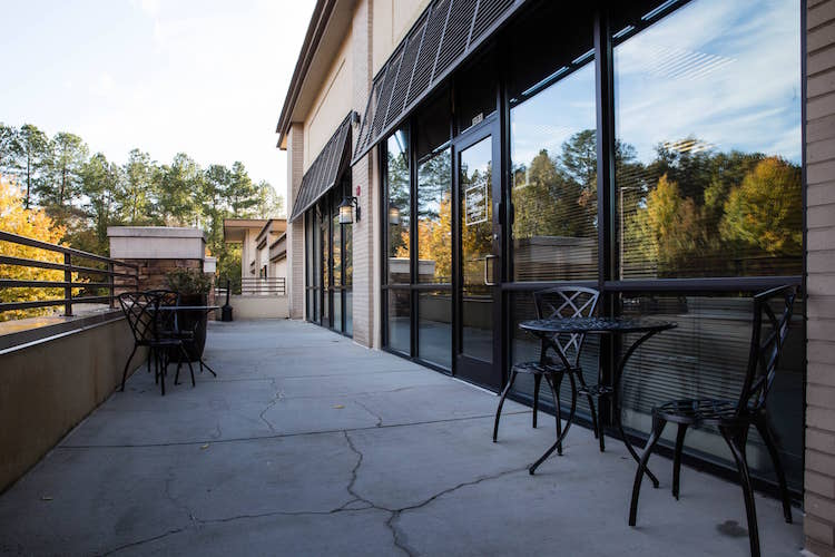 Meeting room with outdoor patio in Alpharetta, Georgia
