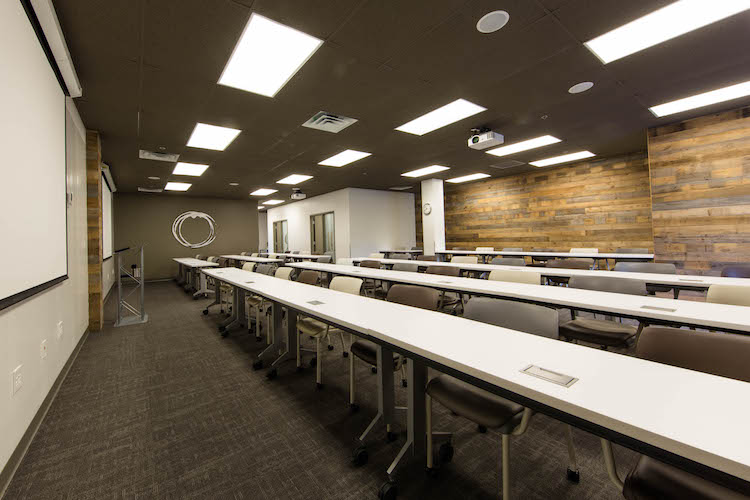 Classroom seating in large meeting space