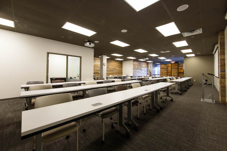 Classroom seating in large Atlanta meeting space
