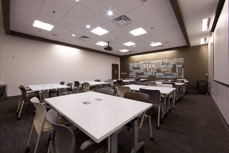 Pod seating in large Atlanta, GA meeting room