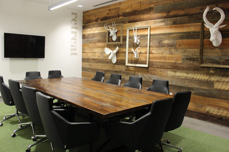 Luxury boarding with wood walls