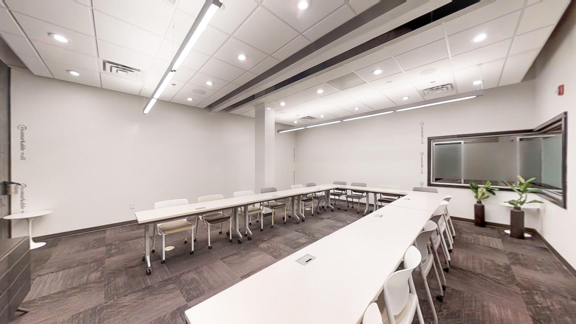 White board walls and creative environment in Atlanta training room