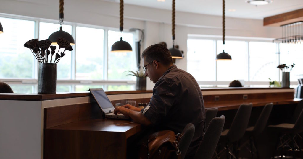 Man working in Coworking Space at Roam