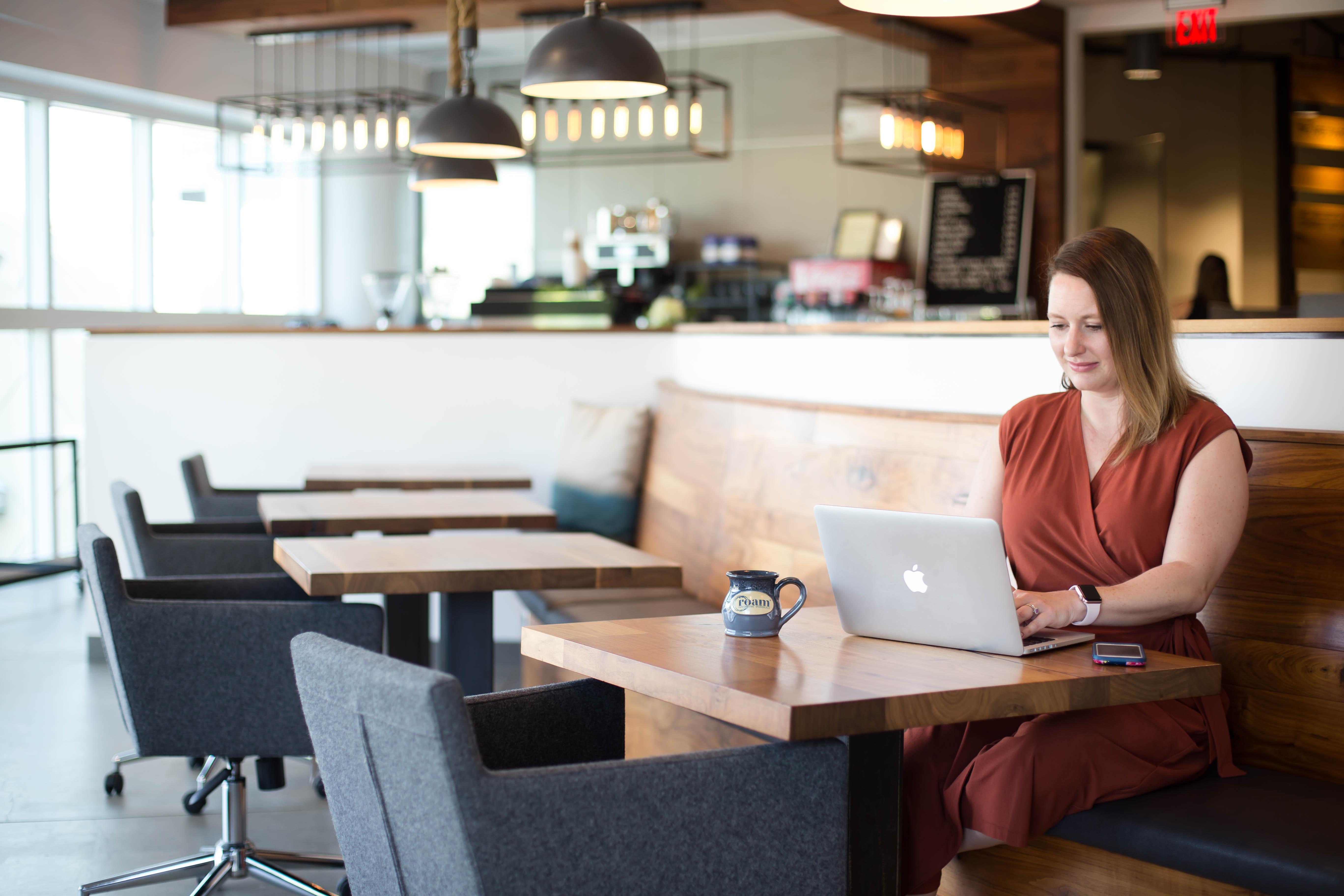 Member working in coworking space