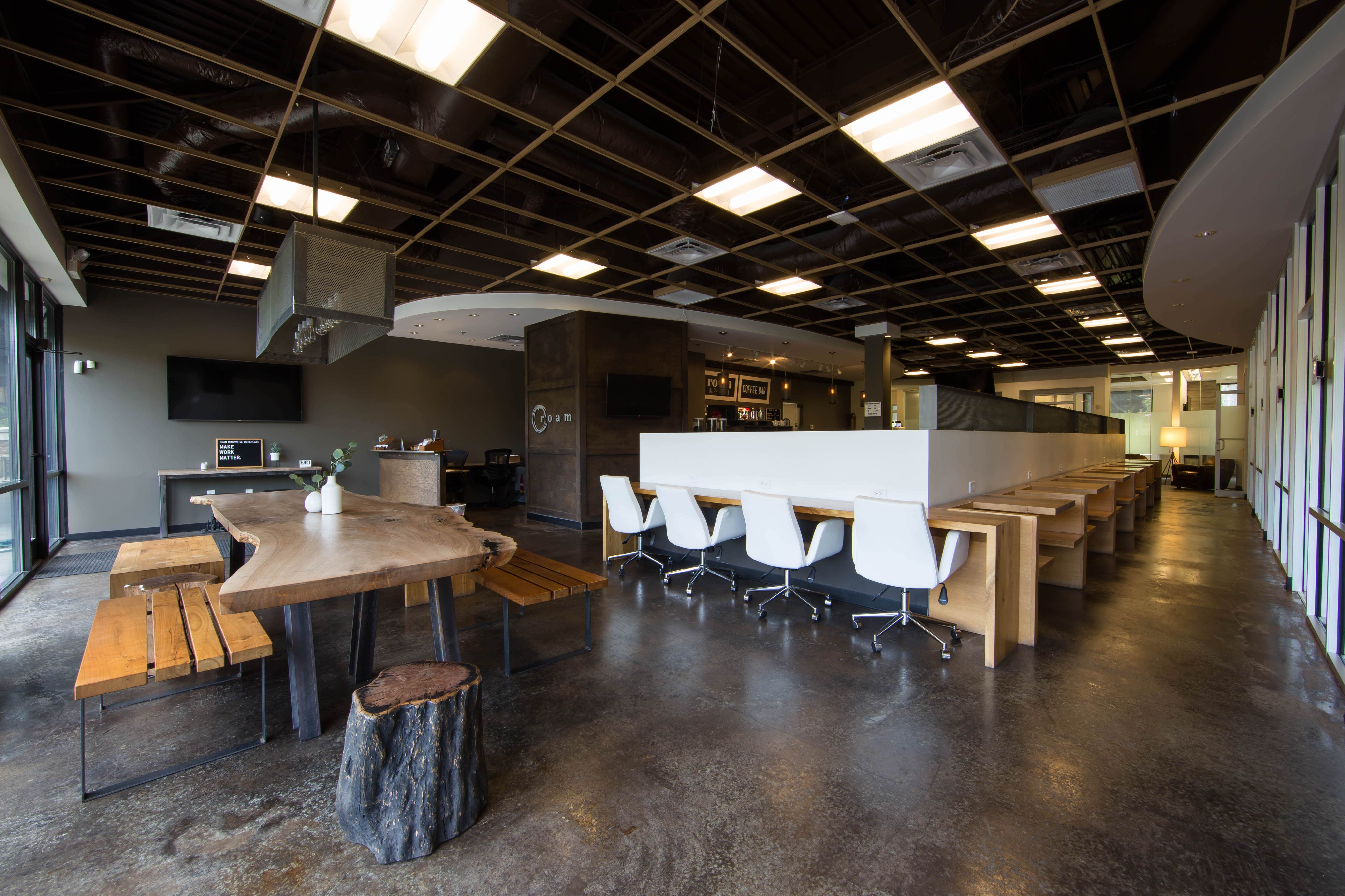 Shared workspace at Roam Alpharetta