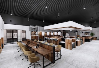 Shared workspace at Roam Lenox coming Spring 2020