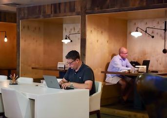 Members working in coworking space in Atlanta, GA